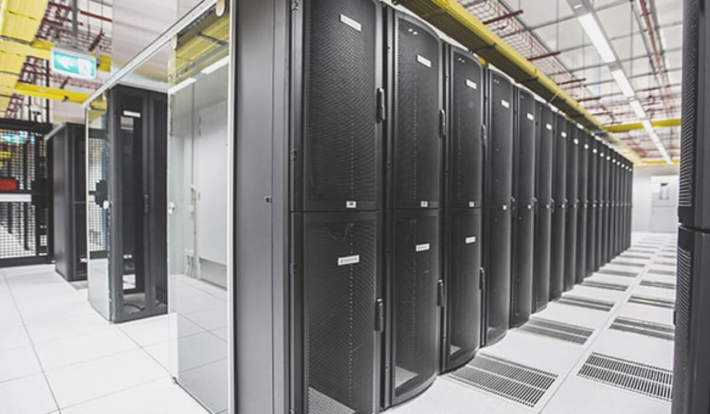 Equinix NY4 financial datacenter in New York)